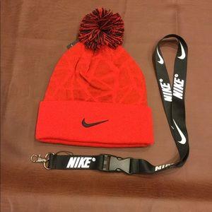 NEW Nike Beanie & Lanyard